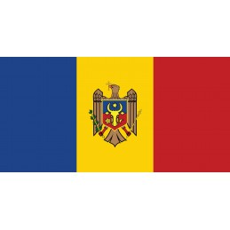 Drapeau Autocollant Moldavie 10 cm