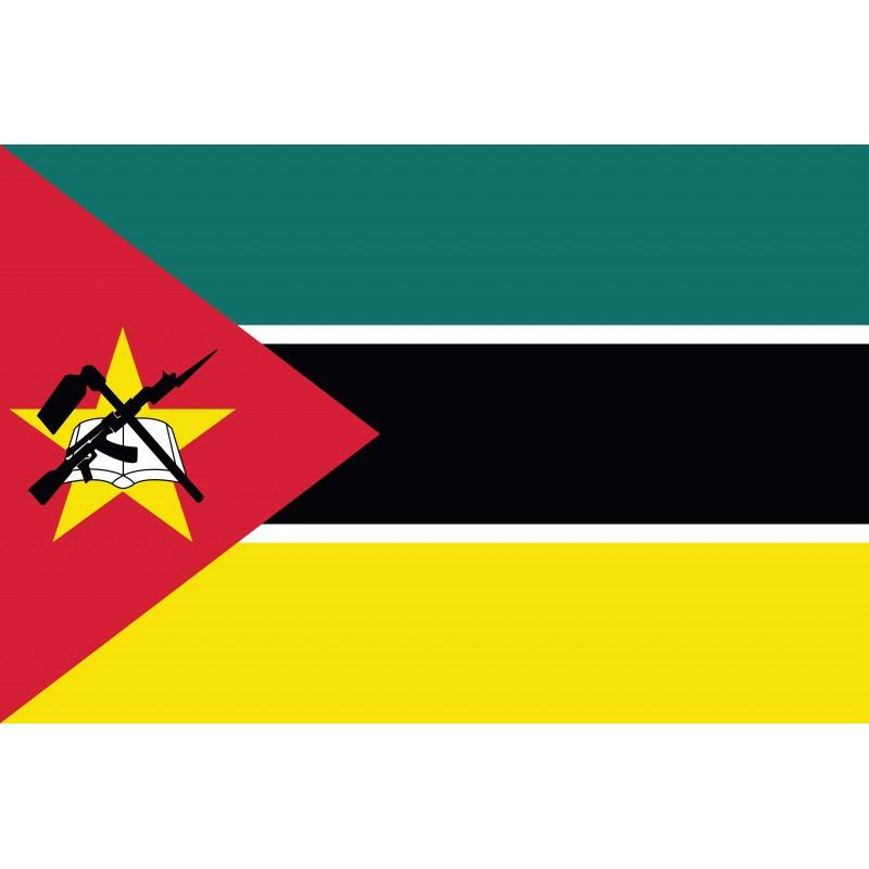 Drapeau Autocollant Mozambique 10 cm