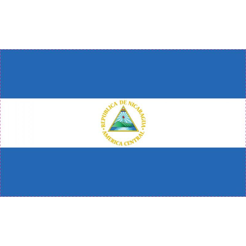 Drapeau Autocollant Nicaragua 10 cm