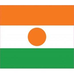 Drapeau Autocollant Niger 10 cm