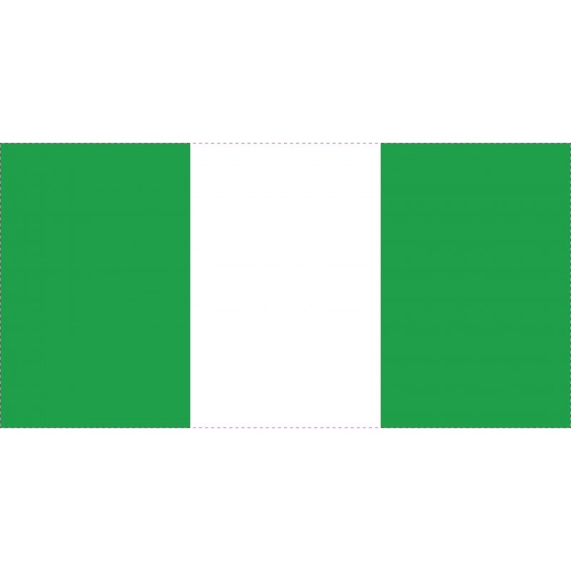 Drapeau Autocollant Nigéria 10 cm