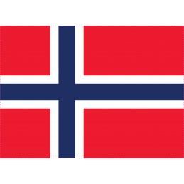 Drapeau Autocollant Norvège 10 cm