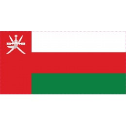 Drapeau Autocollant Oman 10 cm