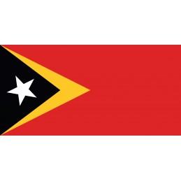 Drapeau Autocollant Timor Oriental 10 cm