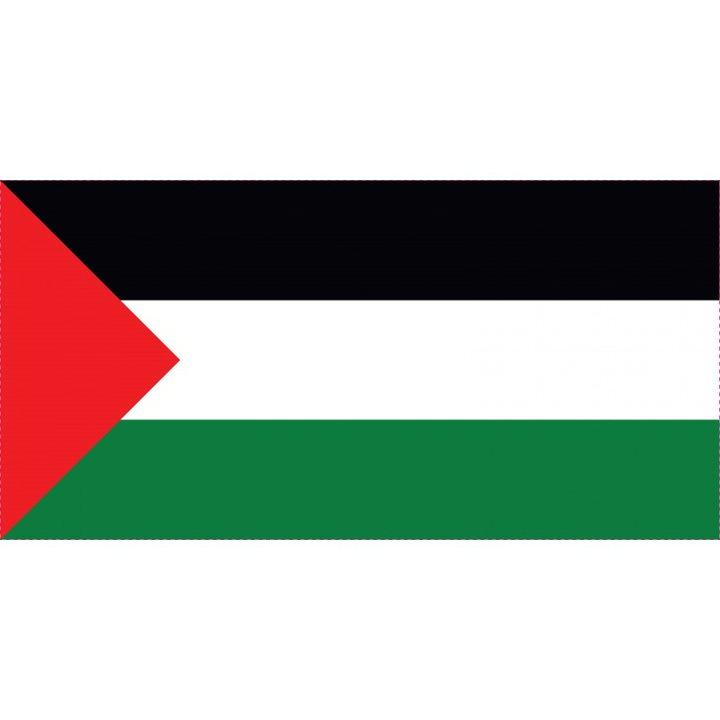 Drapeau Autocollant Palestine 10 cm