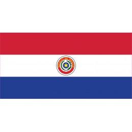 Drapeau Autocollant Paraguay 10 cm