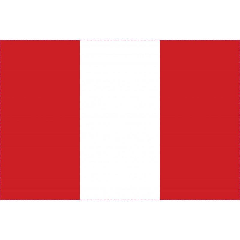 Drapeau Autocollant Pérou 10 cm