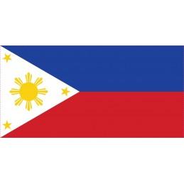 Drapeau Autocollant Philippines 10 cm