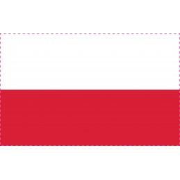Drapeau Autocollant Pologne 10 cm