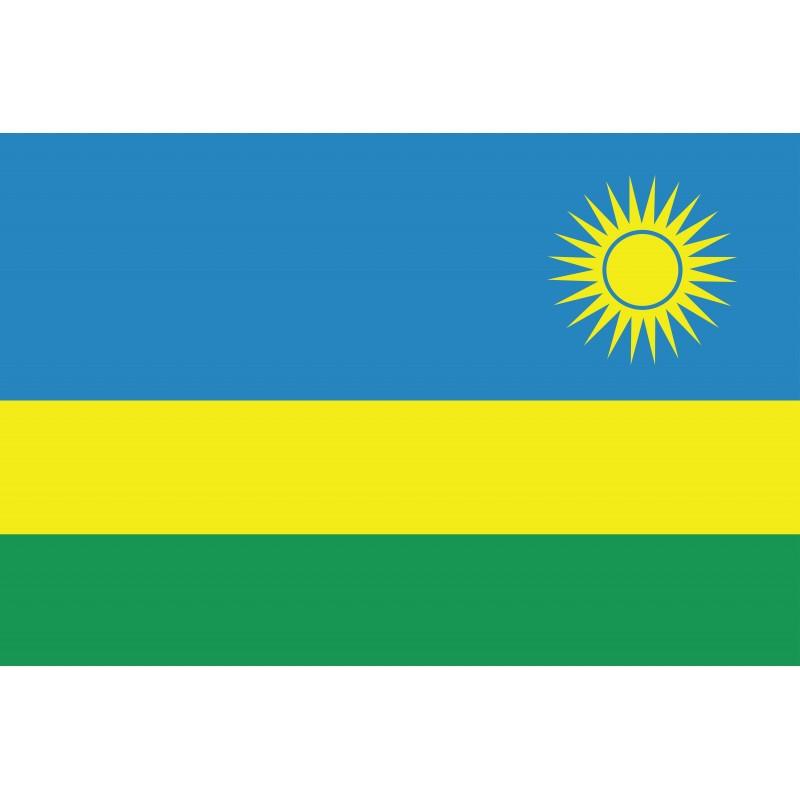 Drapeau Autocollant Rwanda 10 cm
