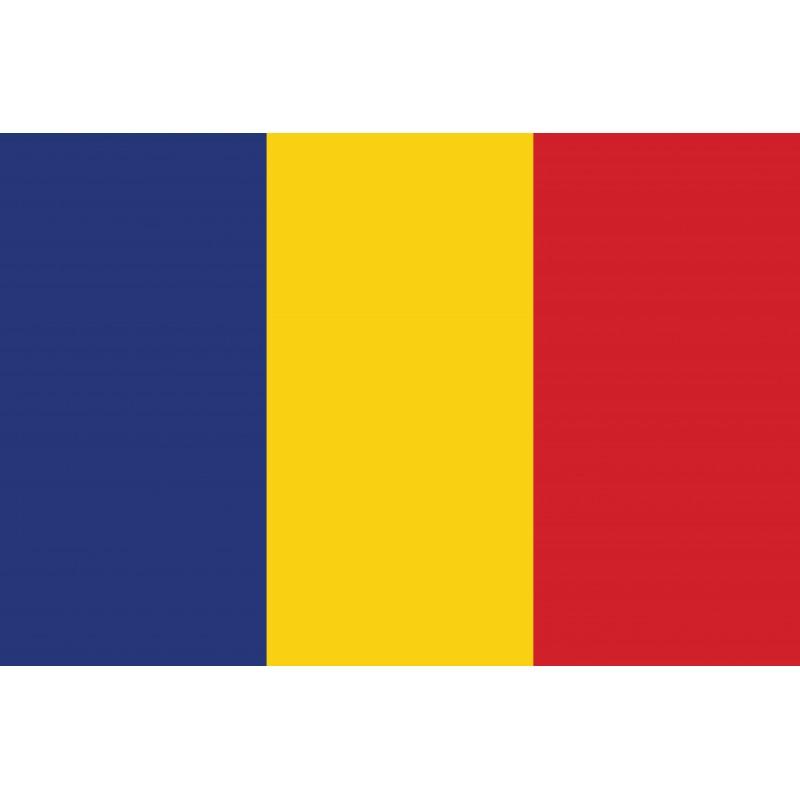 Drapeau Autocollant Roumanie 10 cm