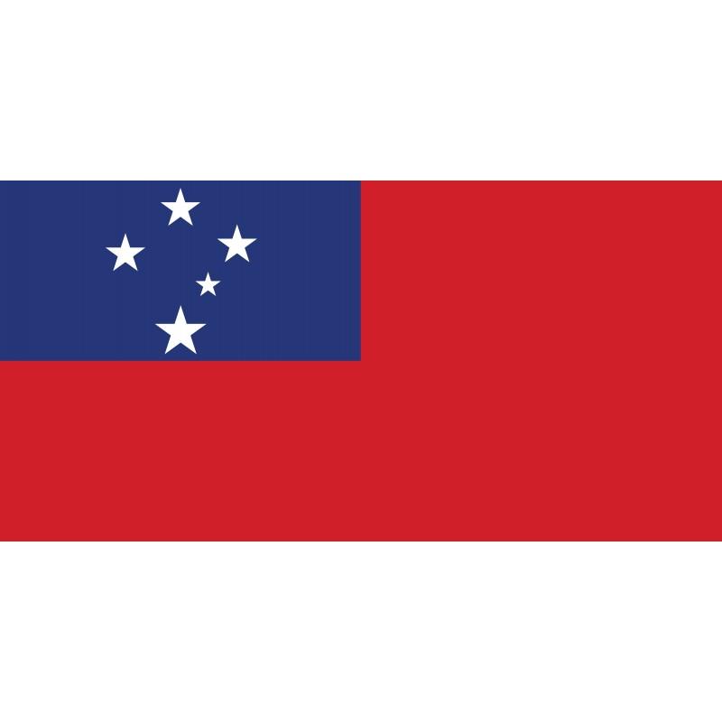 Drapeau Autocollant Samoa 10 cm