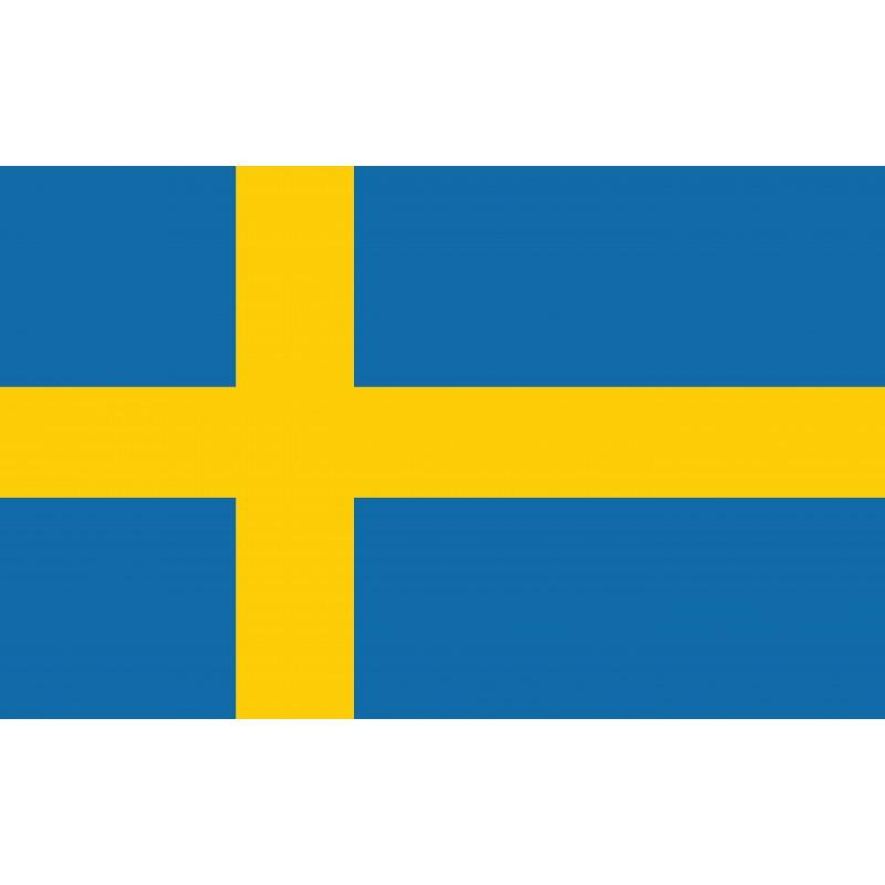 Drapeau Autocollant Suède 10 cm
