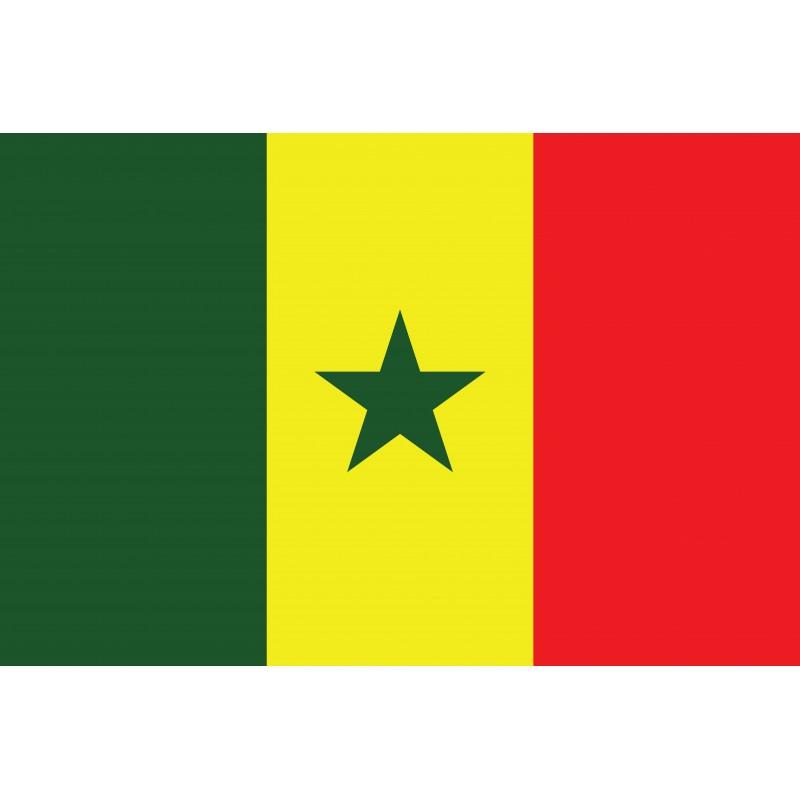 Drapeau Autocollant Sénégal 10 cm