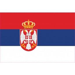 Drapeau Autocollant Serbie 10 cm