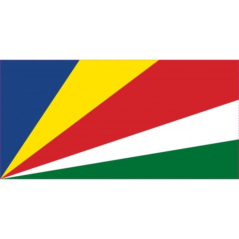 Drapeau Autocollant Seychelles 10 cm