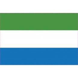 Drapeau Autocollant Sierra Leone 10 cm