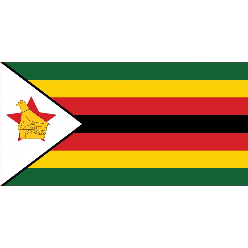 Drapeau Autocollant Simbabwe 10 cm