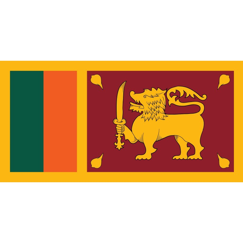 Drapeau Autocollant Sri Lanka 10 cm