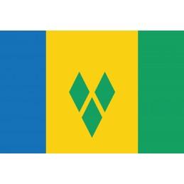 Drapeau Autocollant Saint Vincent et les Grenadines 10 cm