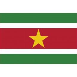 Drapeau Autocollant Surinam 10 cm