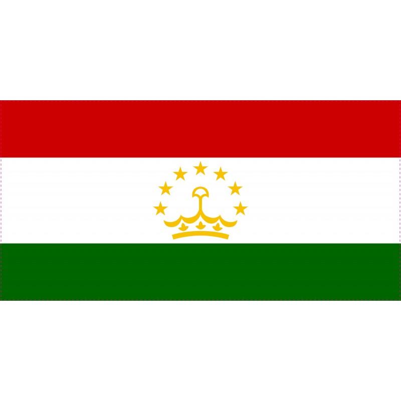 Drapeau Autocollant Tadjikistan 10 cm