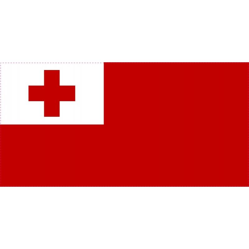 Drapeau Autocollant Tonga 10 cm