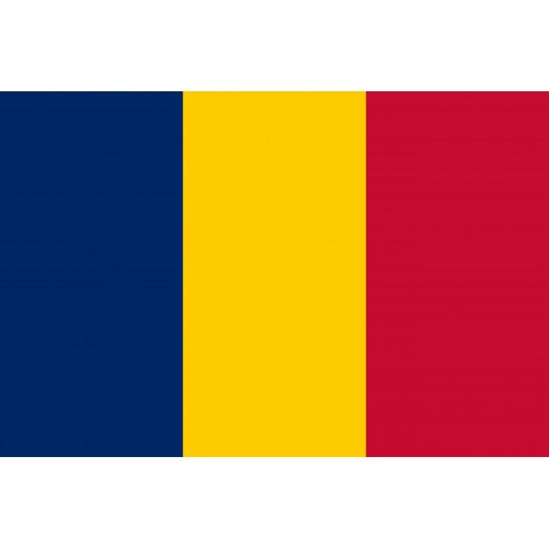 Drapeau Autocollant Tchad 10 cm