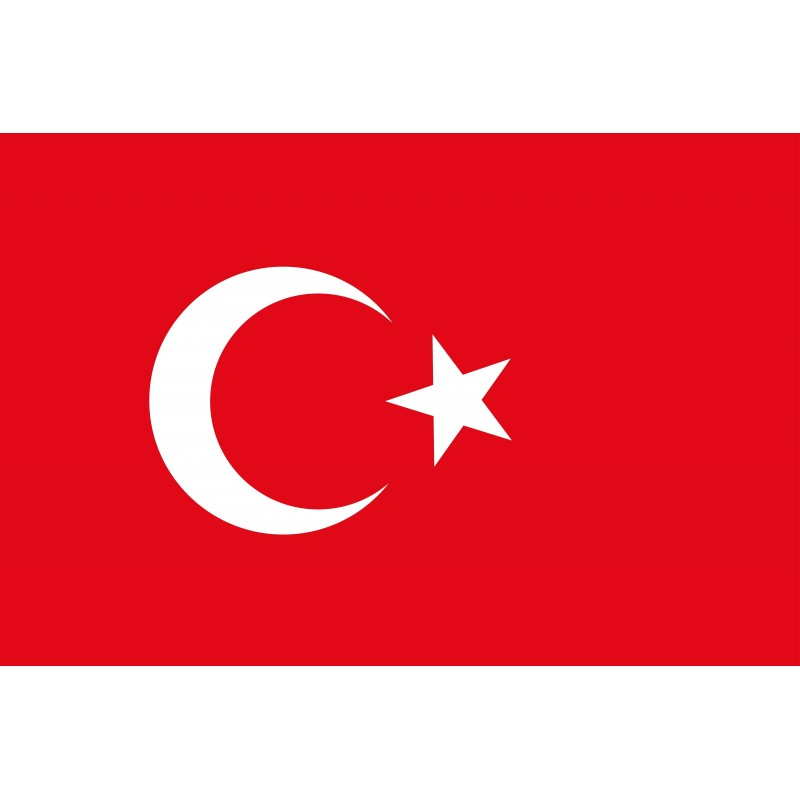 Drapeau Autocollant Turquie 10 cm