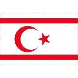 Drapeau Autocollant Turquie République Northcyprus 10 cm