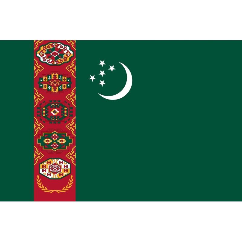 Drapeau Autocollant Turkménistan 10 cm