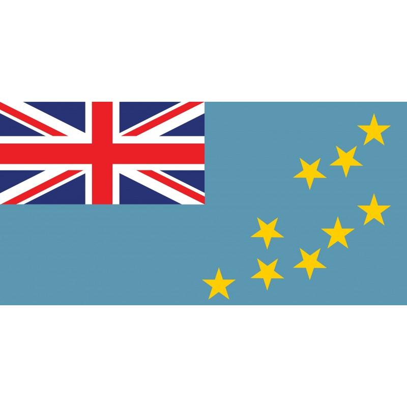 Drapeau Autocollant Tuvalu 10 cm