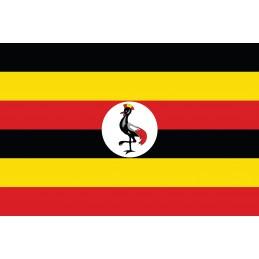 Drapeau Autocollant Ouganda 10 cm