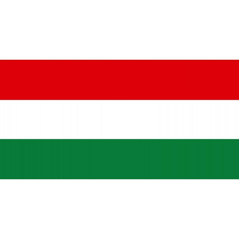 Drapeau Autocollant Hongrie 10 cm