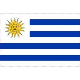 Drapeau Autocollant Uruguay 10 cm
