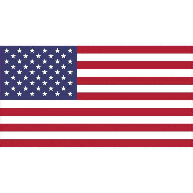 Drapeau Autocollant USA 10 cm