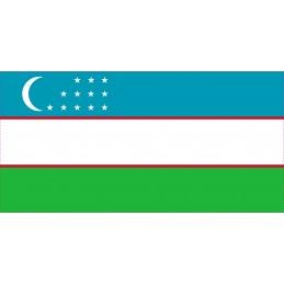 Drapeau Autocollant Usbekistan 10 cm