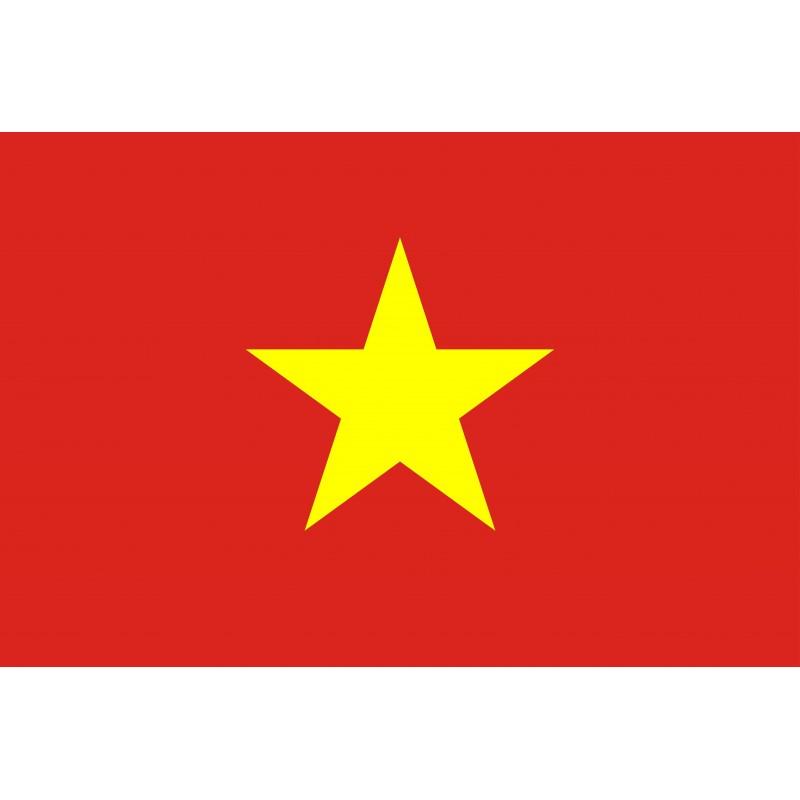 Drapeau Autocollant Vietnam 10 cm