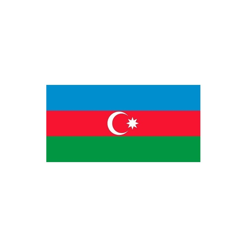 Drapeau Autocollant Azerbaïdjan 10 cm