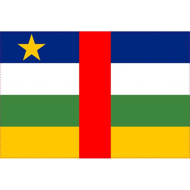 Drapeau Autocollant Afrique Centrale 10 cm