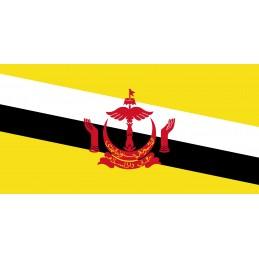 Drapeau Autocollant du Brunei 10 cm