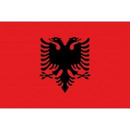 Drapeau Autocollant Albanie 10 cm