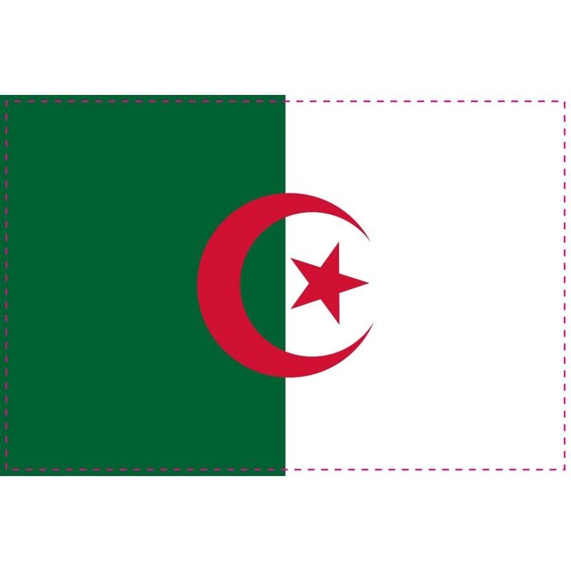 Drapeau Autocollant Algérie 10 cm
