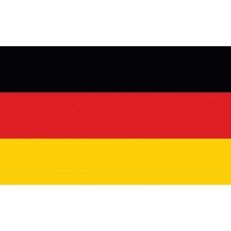 Drapeau Autocollant Allemagne 10 cm