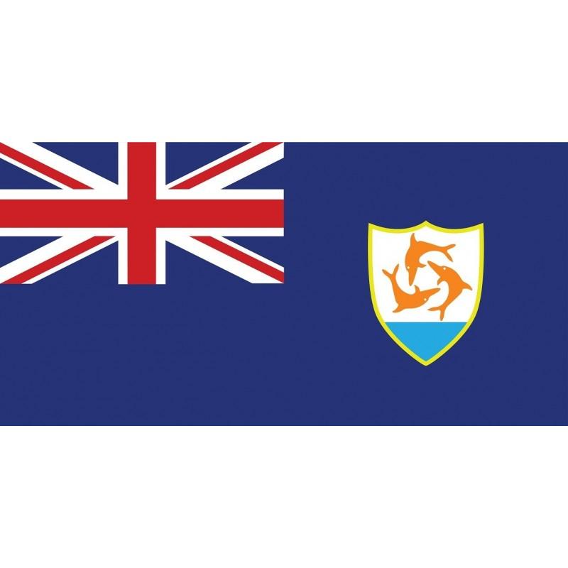 Drapeau Autocollant Anguilla 10 cm