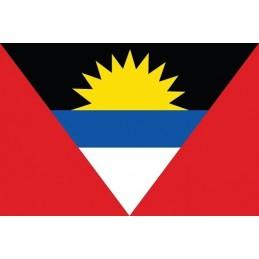 Drapeau Autocollant Antigua et Barbuda 10 cm
