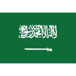 Drapeau Autocollant Arabie Saoudite 10 cm