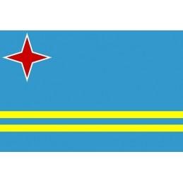 Drapeau Autocollant Aruba 10 cm