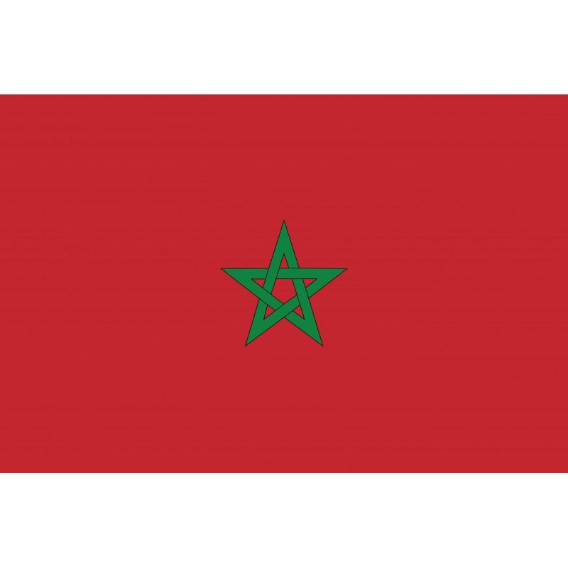 Drapeau Autocollant du Maroc 10 cm