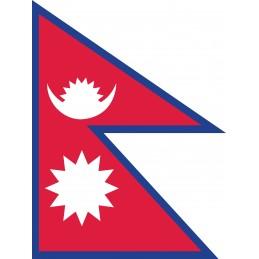 Drapeau Autocollant du Népal 10 cm